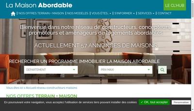 Site internet de La Maison Abordable