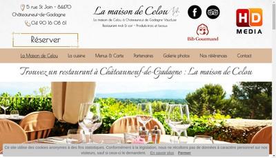 Site internet de La Maison de Celou