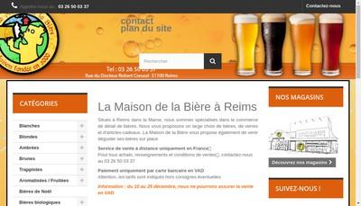 Site internet de La Maison de la Biere