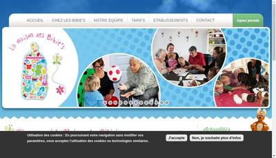 Site internet de La Maison des Bibie'S