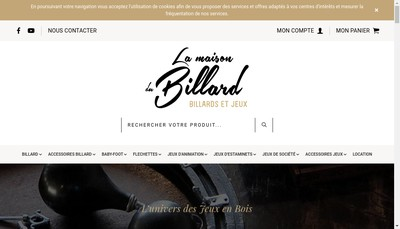 Site internet de Videobox- a la Maison du Billard