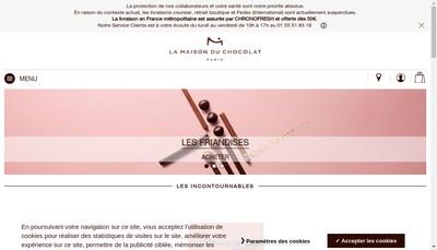 Site internet de La Maison du Chocolat