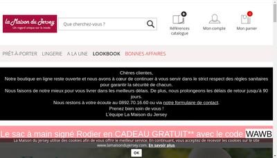 Site internet de La Maison du Jersey