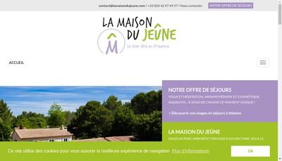 Site internet de La Maison du Jeune