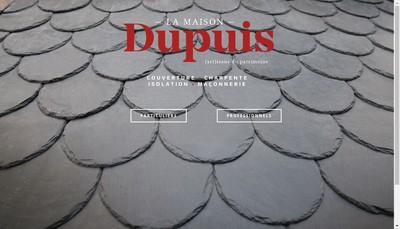 Site internet de La Maison Dupuis