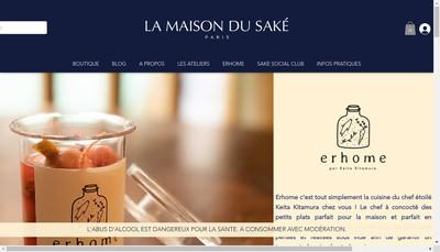 Site internet de La Maison du Sake
