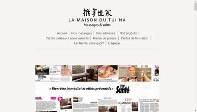 Site internet de La Maison du Tui Na