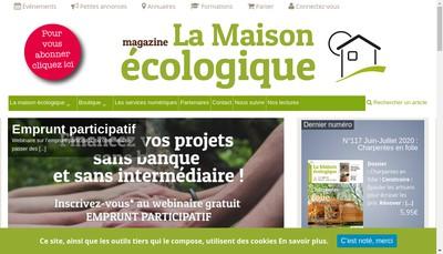 Site internet de La Maison Ecologique