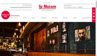 Site internet de La Maison Montmorency