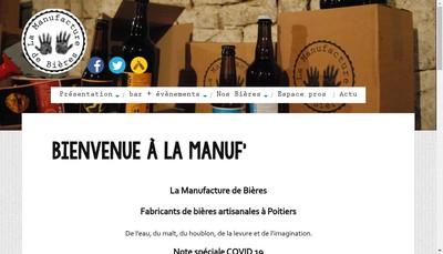 Site internet de La Manufacture de Bieres