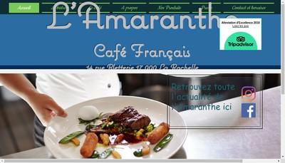 Site internet de L'Amaranthe