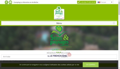 Site internet de Camping de la Marette