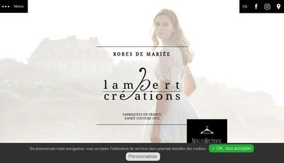 Site internet de Lambert Creations-Robes de Mariee