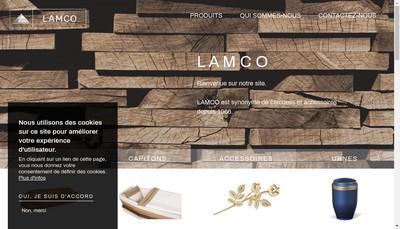 Site internet de Lamco Distribution