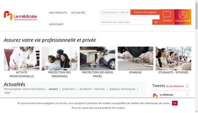 Site internet de La Medicale de France