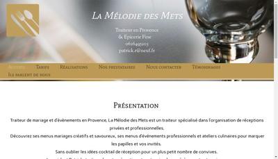 Site internet de La Melodie des Mets