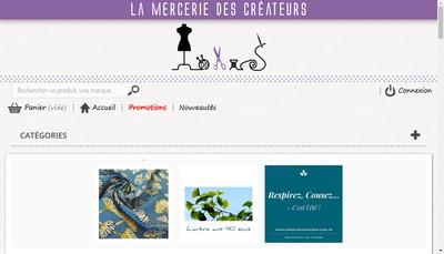 Site internet de La Mercerie des Createurs