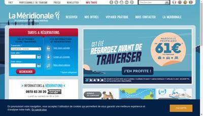 Site internet de La Meridionale
