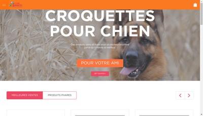 Site internet de L'Ami Croquettes