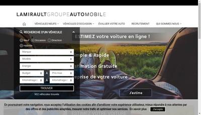 Site internet de Lamirault Finances