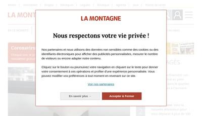 Site internet de La Montagne