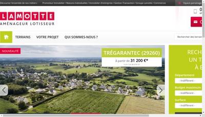 Site internet de Lamotte Amenageur Lotisseur