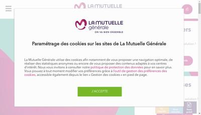 Site internet de La Mutuelle Generale