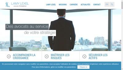 Site internet de Services Lamy