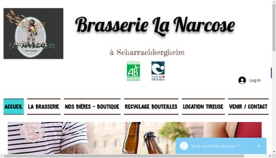 Site internet de Brasserie la Narcose