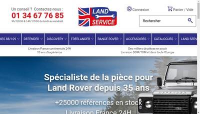 Site internet de Land Service