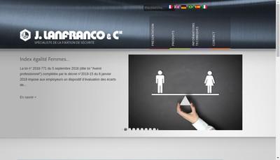 Site internet de J Lanfranco et Compagnie