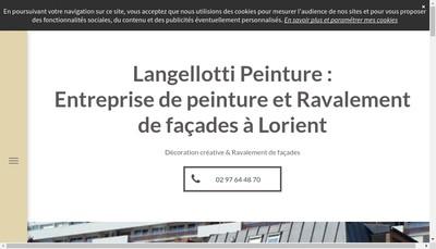 Site internet de Langellotti Peinture