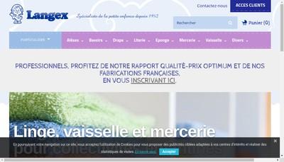 Site internet de Societe Langex