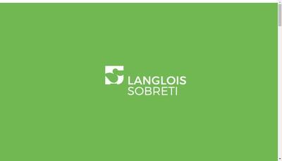 Site internet de Langlois Sobreti
