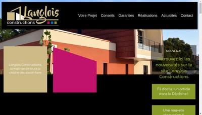Site internet de Langlois Constructions