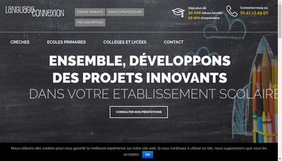 Site internet de Language Connexion France