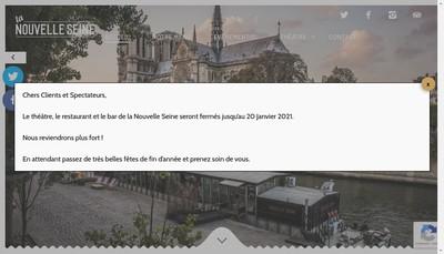 Site internet de La Nouvelle Seine