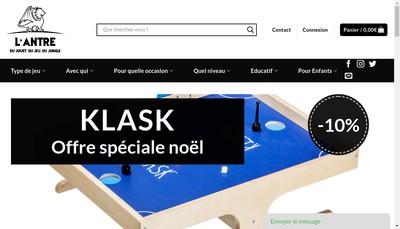 Site internet de L'Antre du Jouet