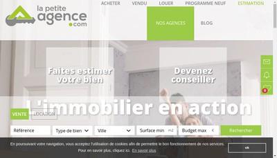 Site internet de La Petite Agence