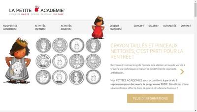 Site internet de La Petite Academie