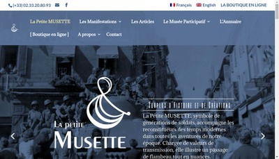 Site internet de La Petite Musette