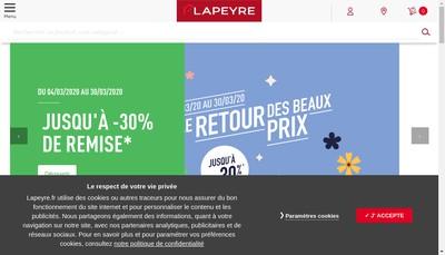 Site internet de Lapeyrepro - Lapeyre la Maison