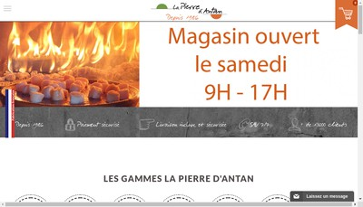 Site internet de La Pierre d'Antan SARL