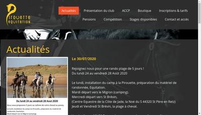 Site internet de La Pirouette Equitation