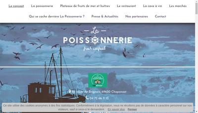 Site internet de La Poissonnerie