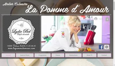 Site internet de La Pomme d'Amour