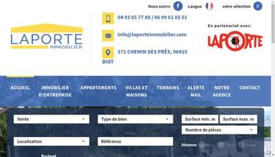 Site internet de Laporte Immobilier