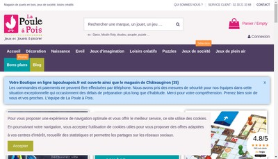 Site internet de La Poule a Pois Selection