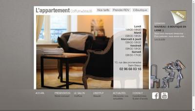 Site internet de L'Appartement Coiffure & Beaute