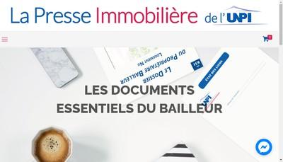 Site internet de La Presse Immobiliere